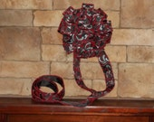 Modern Black, White, Red Tree Topper and Wreath Bow Set