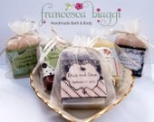 10 Vegan SOAP favors |  Wedding favor | Organza Bag | Baby Shower favor |  Bridal Shower Favor | Handmade Soap |  Christening favor