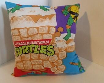 Vintage Teenage Mutant Ninja Turtles Pillow