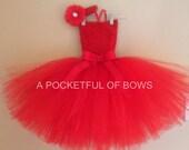 Red Tutu Dress, Valentine Tulle Dress