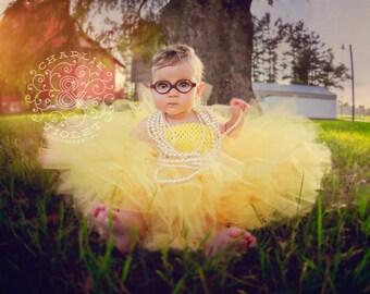 Sunflower Tutu Dress, Baby and Toddler Extra Fluffy Tutu Dress