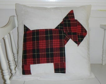 """Scotty dog pillow cover 16"""""""