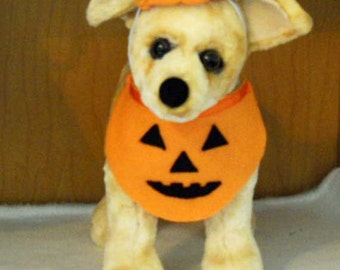 Halloween Pet Pumpkin Costume Small Dog or Cat  Halloween Pet Costume