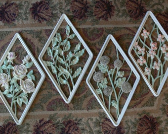 Syroco - Wall Hanging - Set of 4 - Hand Painted - FS-426