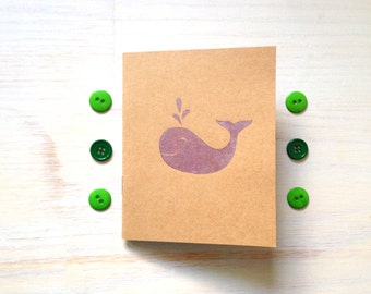 Notebook: Whale, Journal, Cute Notebook, Kids, Cute, Blank, Fun, Purple, For Her, For Him, Stocking Stuffer, Unique, Gift, M4-KR3purple