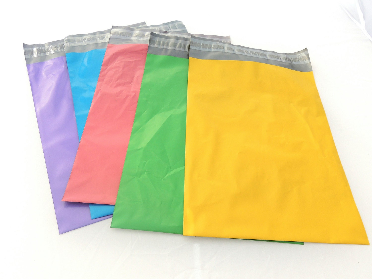 20 color pack 9x12 poly mailers flat poly mailing by