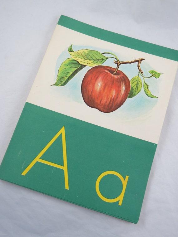 Vintage Classroom Decor ~ Vintage classroom alphabet cards a thru z decor