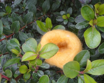 Felted  Wool Bird Nest Yellow Gold