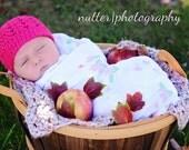 Crochet baby beanie hat newborn 0-3 month infant boy girl photo prop white yellow aqua pink blue green brown red cream beige mint