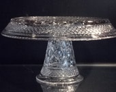 Cape Cod Pattern By Imperial Cake Stand Salver Post Depression Glass