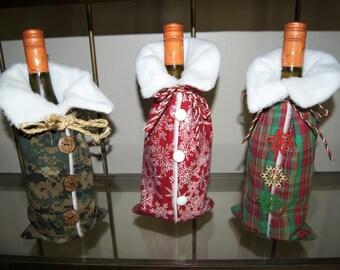 Wine Bottle Holders Are Little Fur Lined Jackets