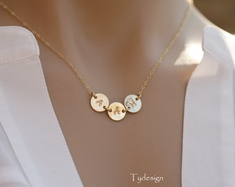 Personalized Initial Necklace,GOLD Filled,Best Friends Necklace,Personalized,Mother's jewelry,birthday,connector