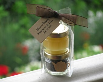 Tea Party Favors: Wedding Favors, Bridal Shower Favors, Baby Shower Favors, Tea Favors, Honey Favors