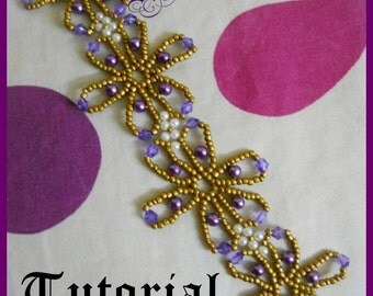 Floral beauty bracelet Tutorial