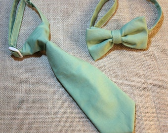 Sage Green Neck Tie or Bow Tie  (BowTie) for Baby, Infants, Toddlers, Youth, Boys, Men boys outfit wedding