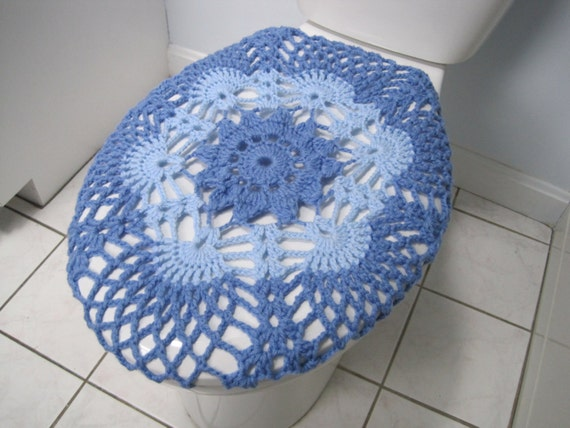 Crochet toilet seat cover light periwinkle light blue by ytang - Elongated toilet seat covers in some stunning patterns ...