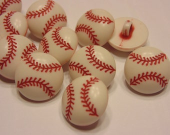 5 baseball buttons, 15 mm (41)