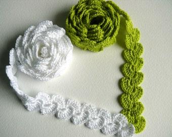 Crocheted Cotton Edging, Shabby chic Decorations, Lace Trim,Wedding decor, cotton, crochet trim, crochet edging, crafting supplies,gift