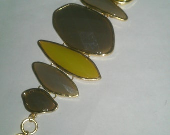 Vintage Gray and Yellow Bracelet