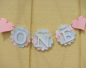 High Chair Banner, One banner, Birthday decorations, small/mini banner