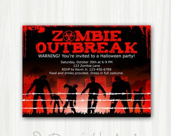 printable zombie invitations pictures to pin on pinterest - pinsdaddy, Birthday invitations