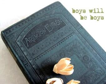 Antique Boy's Book, The Boys Own Book of Indoor Sports, 1880's, Victorian Book, Parlor Games, Gentleman's Book, Vintage Children's Book