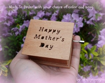 music box, mothers day music box, wooden music box, custom music box, mothers day, music box shop, gift for mom, gift for mommy