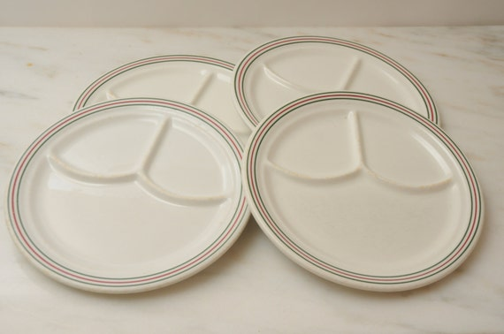 Vintage Restaurant Divided Dinner Plates Iroquois China Made