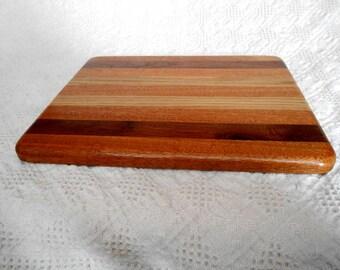 Wood Cutting Board - Walnut, White Oak & Mahogany