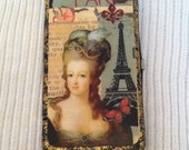 Woman's Clutch Decoupage Wallet~Marie Antoinette