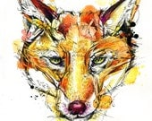 "Red Fox Print 8""x10"" Limited Edition"