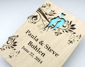 Custom Wood Wedding Guest Book, Wedding Present, Christmas Gift, Bride and Groom, Bridal Shower Book, Wedding Photo Album