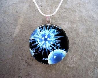 Virus Jewelry - Glass Pendant Necklace - Science Jewellery - Virus 14