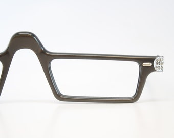 Vintage  Reading Glasses Frames Rhinestone vintage Eyeglass Frames 1980s Retro Eyeglasses
