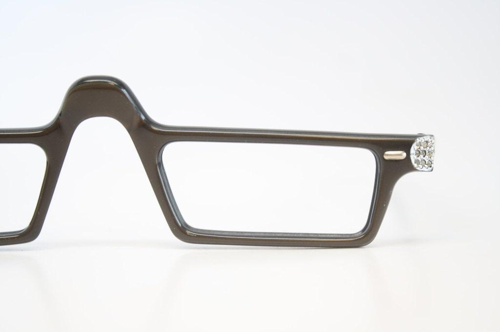 Vintage Reading Glasses Frames Rhinestone vintage Eyeglass