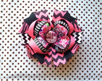 Ready To Ship Hairbow! Zebra Hairbow, Wildly Cute Hairbow, Zebra Print Hairbow, Chevron Hairbow, Zebra Boutique Hairbow, Girls Hairbow