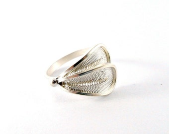 Assymetrical Sterling Silver Ring