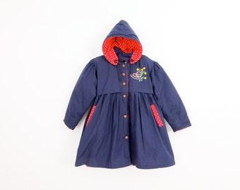 Vintage Navy Winter Coat