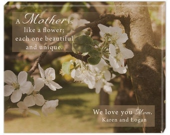 Personalized Wall Canvas for Mom