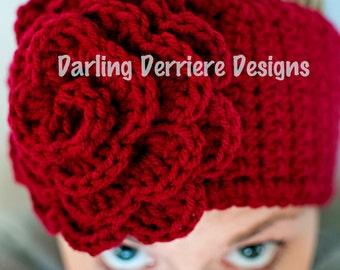 PDF FILE Rose Flower Headwrap Pattern Newborn-Adult Sizing