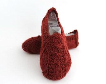 Brick Wool Women Slippers. 100%Wool