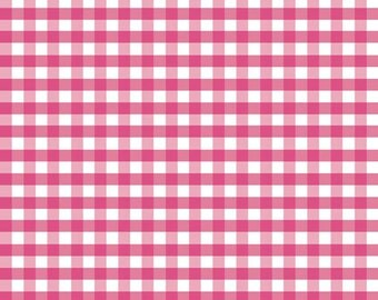 Riley Blake Pink Gingham Fabric By The Yard