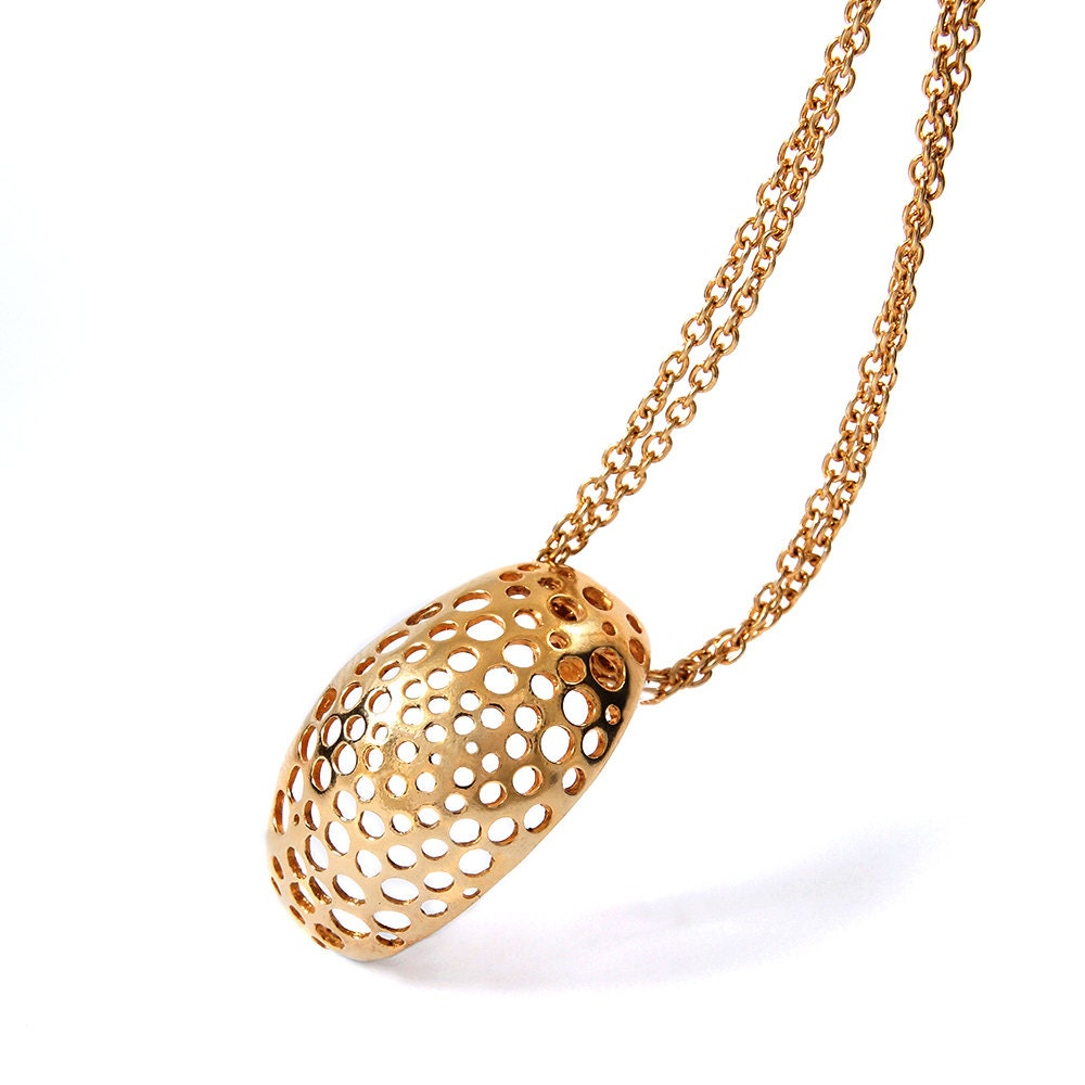 delicate gold necklace geometric pendant necklace simple