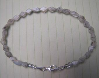 Rutilated Quartz Gemstone Anklet  Jewellery Jewelry Earthy Summer Beach Wear