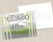 DIY Printable Pikes Peak Thank You from Colorado Postcard - DOWNLOAD Instantly