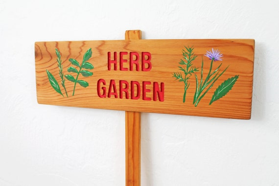 herb garden sign herb artwork garden sign wood plant marker foodie