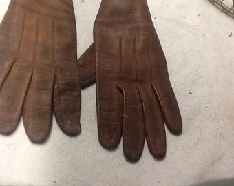 Vintage Children's Leather Gloves