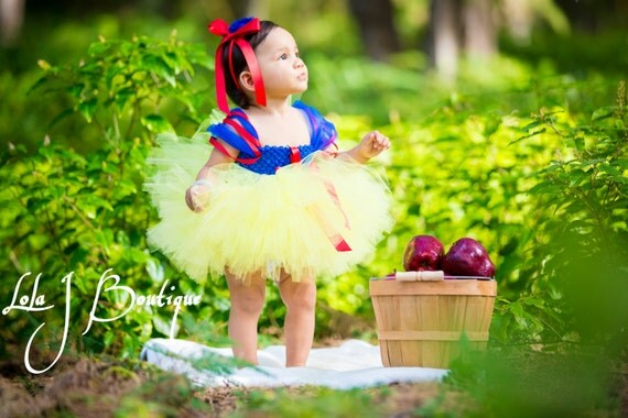 Snow White Tutu Dress available via LolaJBoutique