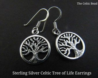 Sterling Silver Celtic Tree of Life Earrings