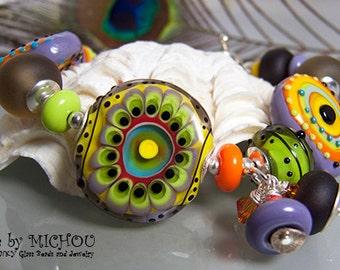 Bohemia - Art Glass Bracelet made by Michou Pascale Anderson